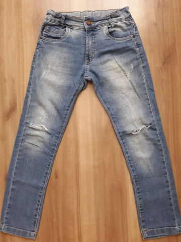 Calça jeans infantil tam 8 - Foto 2