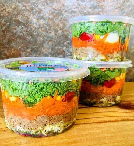 Kits de salada no pote e sanduíche natural - Foto 4