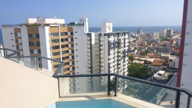 Cobertura triplex, 1 quarto, vista mar, piscina, Pituba, Salvador. Bahia