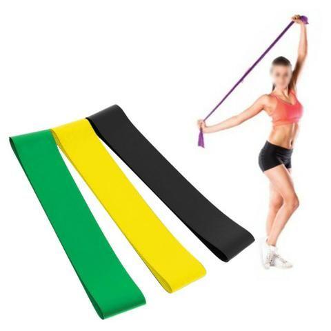 ec02a2752 Faixa Elastica Latex Band Fit Yoga Exercicio Kit 3 Niveis Funcional ...