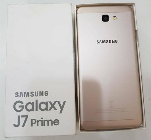 c43cf47a26 Galaxy J7 Prime Duos Dourado com 32GB - Celulares e telefonia - Zona ...