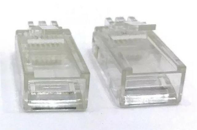 COD-CP278 10 Conectores Rj45 Cat5 Cabo Rede Lan Plug Ethernet Arduino Automação Robotic - Foto 2