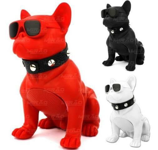Caixa de som Bluetooth cachorrinho bulldog