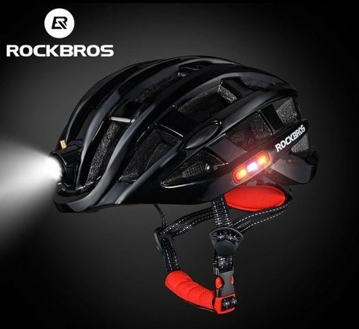 ROCKBROS Luz Bicicleta Capacete Ultraleve moldado Mountain Capacete de Segurança 57- 62cm