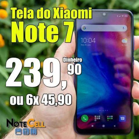 Tela do Xiaomi Redmi Note 7