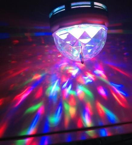 Lampada Globo de Luz Led RGB Giratoria Bola Maluca