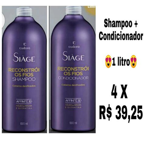 Shampoo + Condicionador de 1 litro cada