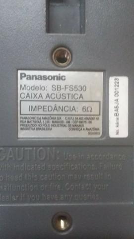 Conjunto de caixas tiradas de home Theater Panasonic em perfeito estado - Foto 2