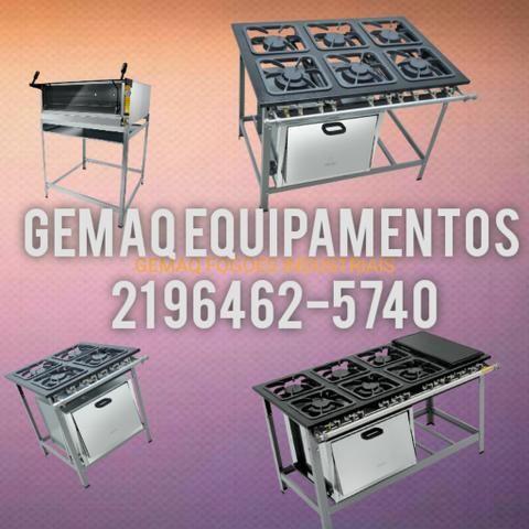 Fogões industriais é na Gemaq Equipamentos! Qualidade garantida!!