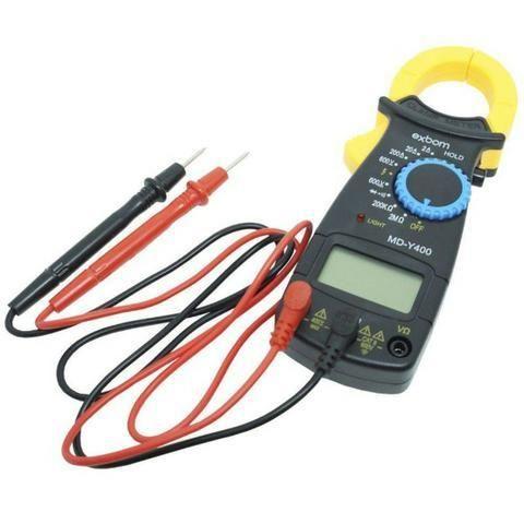 Alicate Amperímetro Profissional Digital Medição 600v Exbom - Foto 3