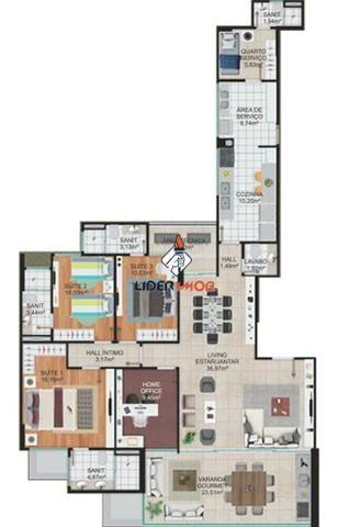 Apartamento alto padrão para venda, santa mônica, feira de santana, 3 suítes, 1 sala, 4 ba - Foto 14