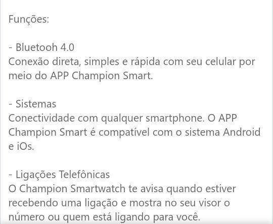 Relógio Smart WATCH Champion - Foto 2