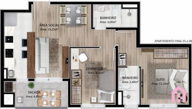 Apartamento à venda com 2 dormitórios em Panazzolo, Caxias do sul cod:2795 - Foto 14