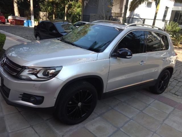 Vw - Volkswagen Tiguan ? 2014- Teto Panorâmico - Xênon-Prata - Foto 3