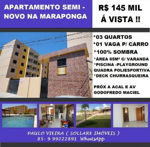 Apartamento 03 Quartos, Varanda e Lazer Com Piscina: R$ 145 Mil Á Vista !! 9  *