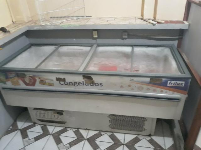 Vendo freezer ilha com tampas de vidro - Foto 3