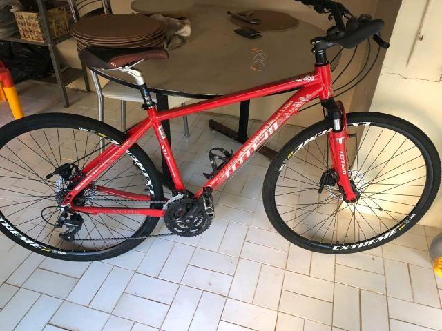 Bicicleta Totem XTL aro 29 -24v vermelha (torrando) - Foto 2