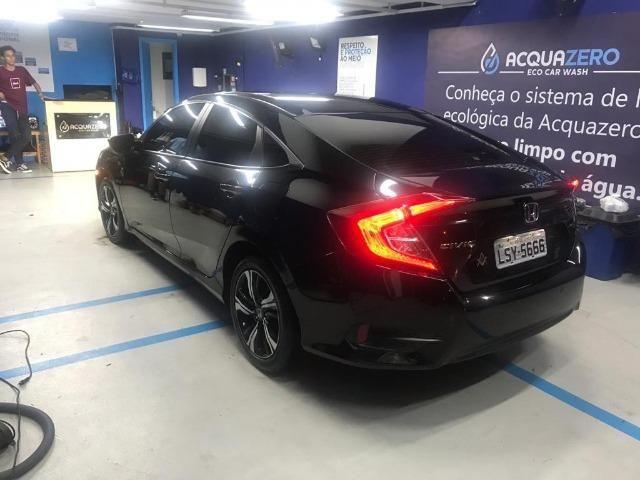 Honda Civil EXL, 2017, preto Batmóvel. Único Dono. Maravilhoso - Foto 3