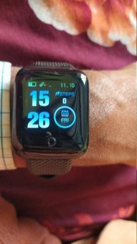 Mega promoção relógio inteligente com monitor cardíaco e pressão arterial - Foto 4