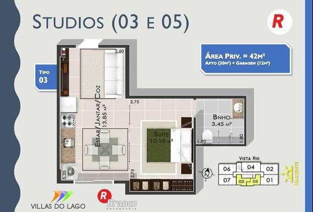 Apartamento para estudante e solteiros. Entrega Cozinha com modulados - Foto 4