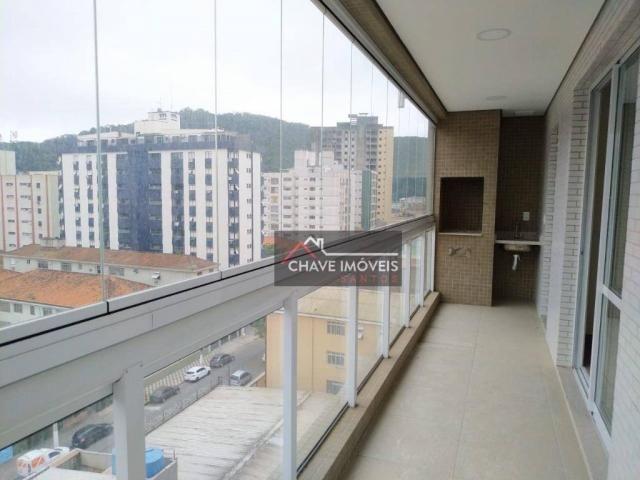 Apartamento com 3 dormitórios à venda, 111 m² por R$ 740.000,00 - Marapé - Santos/SP