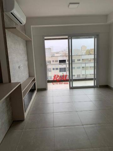 Apartamento com 2 dormitórios (1 suíte) à venda e locação, 72 m² - Gonzaga - Santos/SP - Foto 7