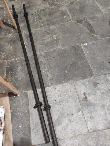 Barra para musulação peso halter de 1,80 metros preço de cada barra