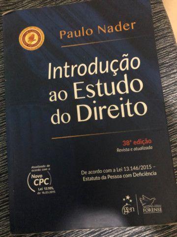 Livro Introdução ao Estudo do Direito - Paulo Nader - Perfeito Estado