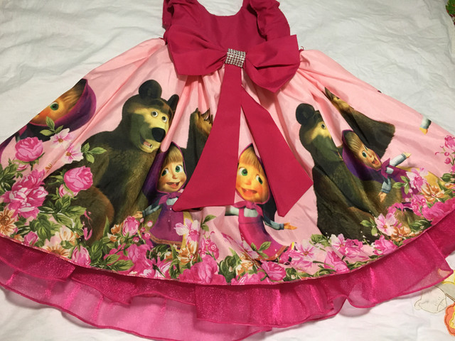 Vestido Marsha e o urso +painel de pano - Foto 4