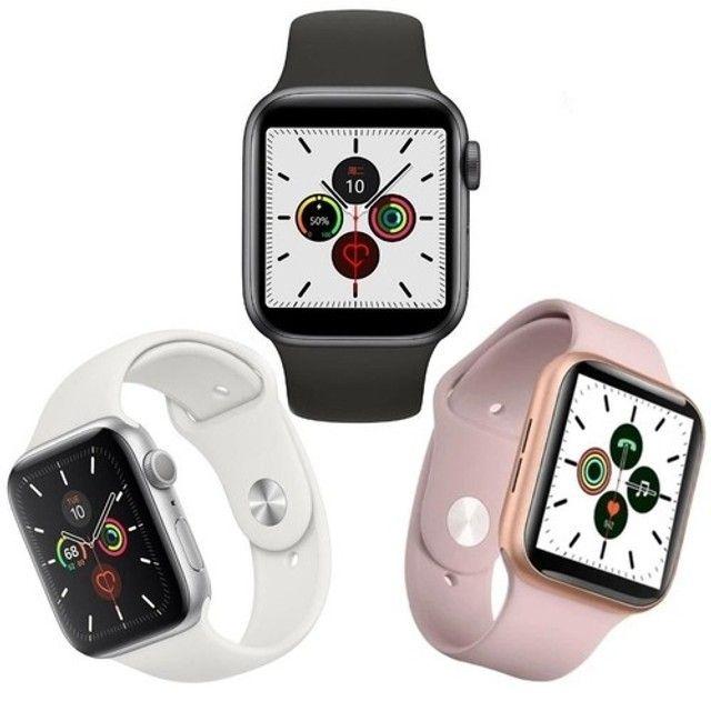 Smartwatch Iwo 46 + Pulseira Metálica - Foto 5