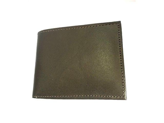 Carteira Masculina Couro Executiva Porta Cartão Pra Presente - Foto 2