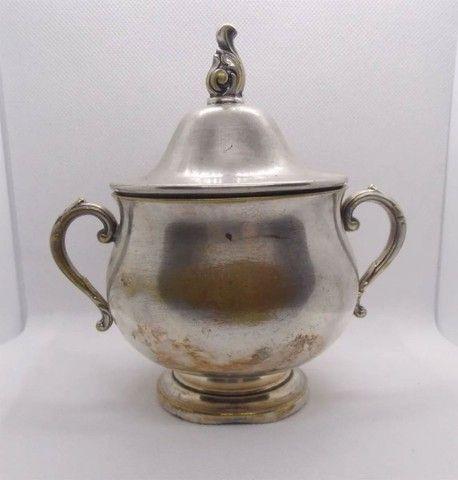 Conjunto prata 90 antigo bule e açucareiro - Venda ou Troca - Foto 3