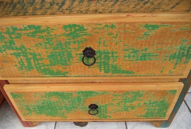 sapateira rustica em madeira de demoliçao - Foto 5