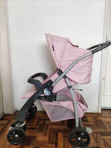 Carrinho de bebê rosa (usado) - Foto 4