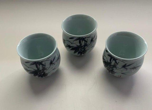 Conjunto Com 3 Copos De Chá Japonês