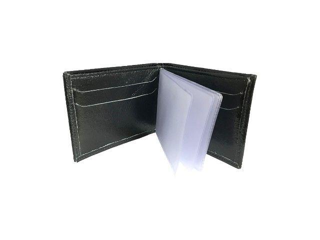 Carteira Masculina Couro Executiva Porta Cartão Pra Presente - Foto 3