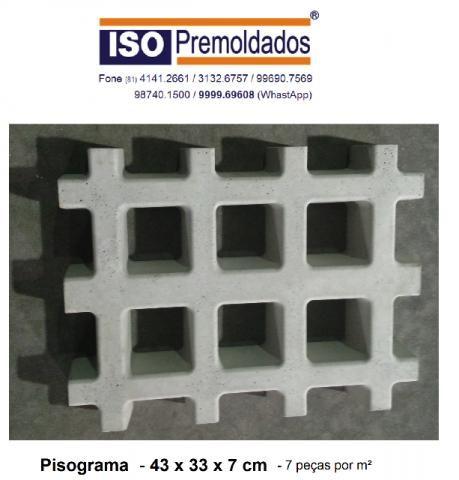 Pisograma / Cobograma / Concregrama 43 x 33 x 7 cm, com entrega grátis em Recife