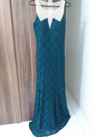 6adb2fc174 Vestido longo verde - Usado 1x - Roupas e calçados - Vila São Judas ...