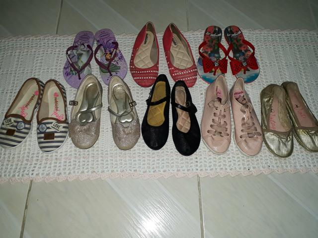 Kit 7 calçados infantis 30