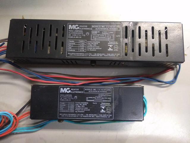 2 Reatores para Lâmpada Fluorescente HO 110W 220V