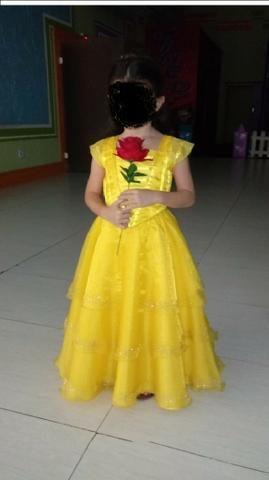 Lindo vestido da Bela e a Fera