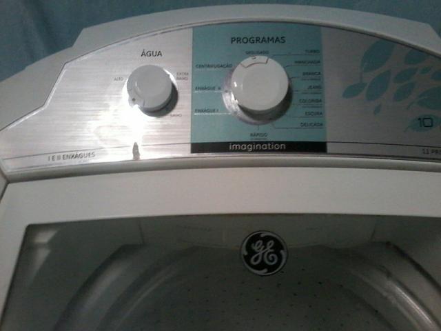 220 reais e tem conversa vendo essa máquina de lavar da marca GE 10 kilolos