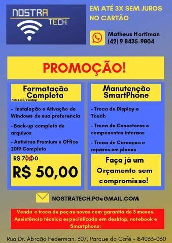 Formatação e Assistência técnica Desktop, notebook e smartphone