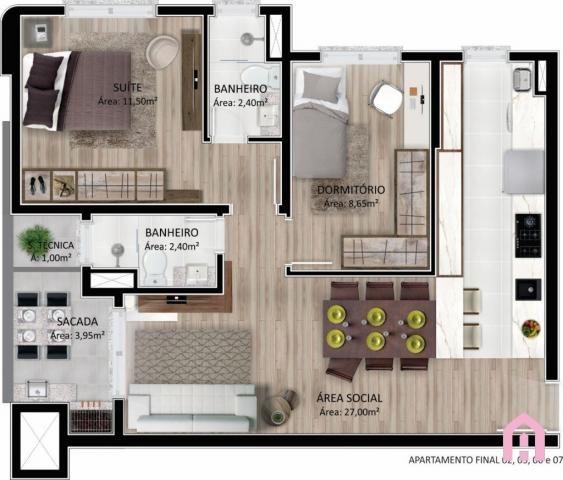Apartamento à venda com 2 dormitórios em Panazzolo, Caxias do sul cod:2795 - Foto 15