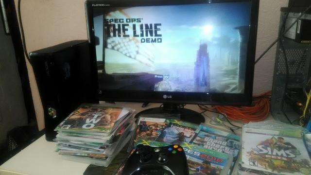 Xbox360 com monitor LED da LG 22pl