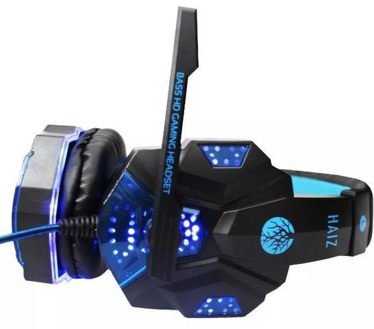Headphone Gamer com Led e fio corda - Foto 5