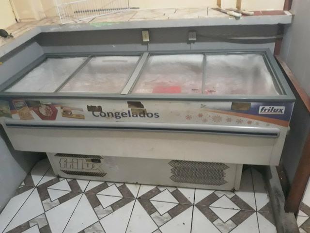 Vendo freezer ilha com tampas de vidro - Foto 2