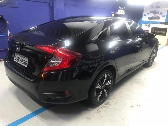 Honda Civil EXL, 2017, preto Batmóvel. Único Dono. Maravilhoso - Foto 2