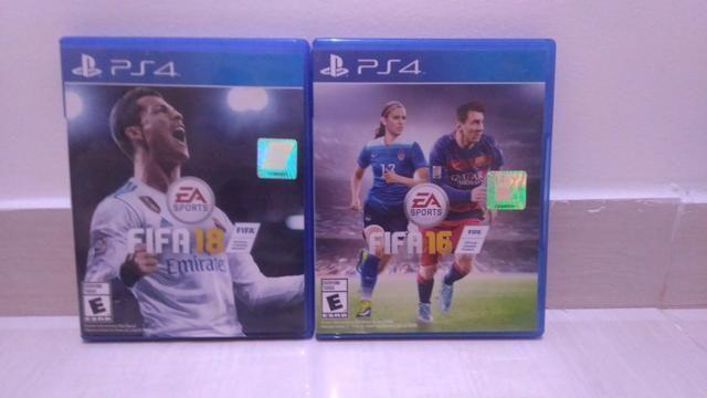 Jogos FIFA 18 E FIFA 16 para PS4