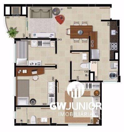 Apartamento à venda com 3 dormitórios em Santo antonio, Joinville cod:98 - Foto 10